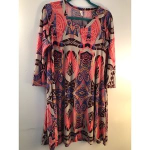 Tyche Tribal Print Dress